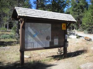 Tahoma trailhead sign Rebuilt in 2012