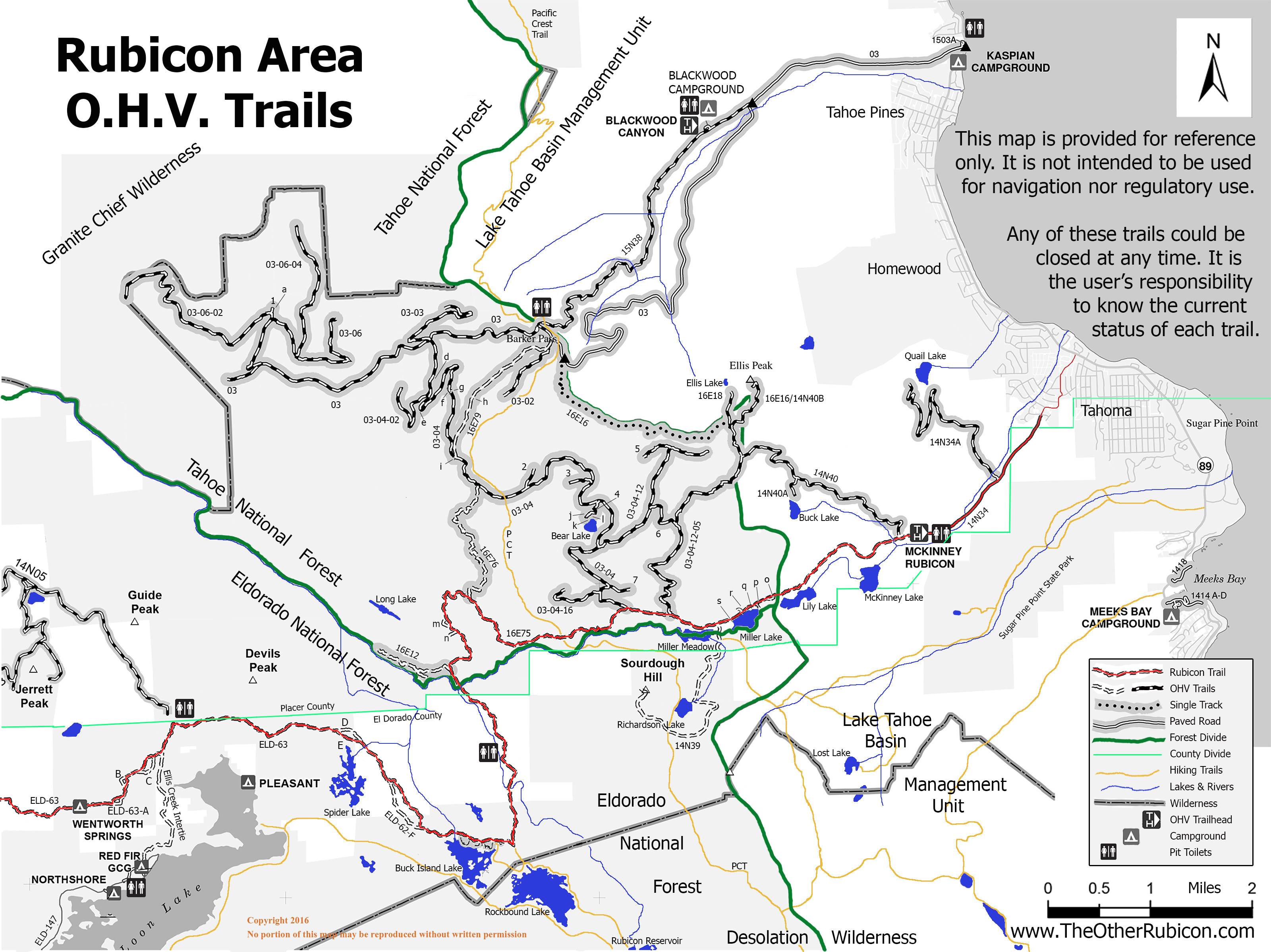 Maps / Directions | The 'Other' Rubicon Tahoma Ca Map on