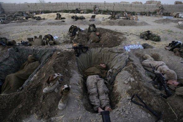 Army sleeping